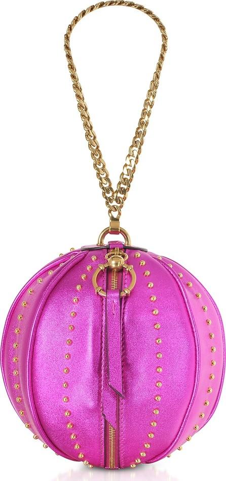 Balmain Mini Moon Laminated Leather Bag