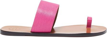 ATP Atelier 'Astrid' toe ring snake embossed leather slides