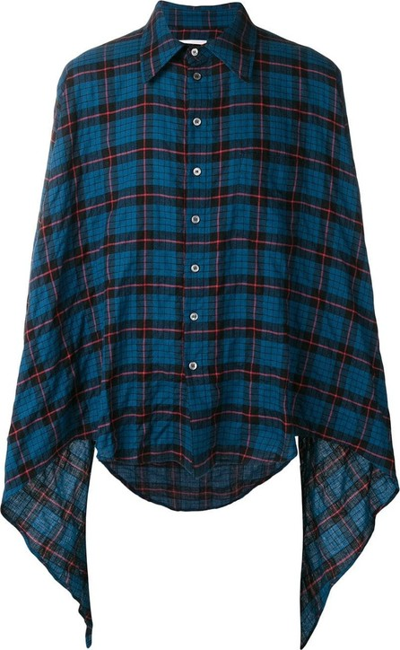 Faith Connexion asymmetric checked shirt