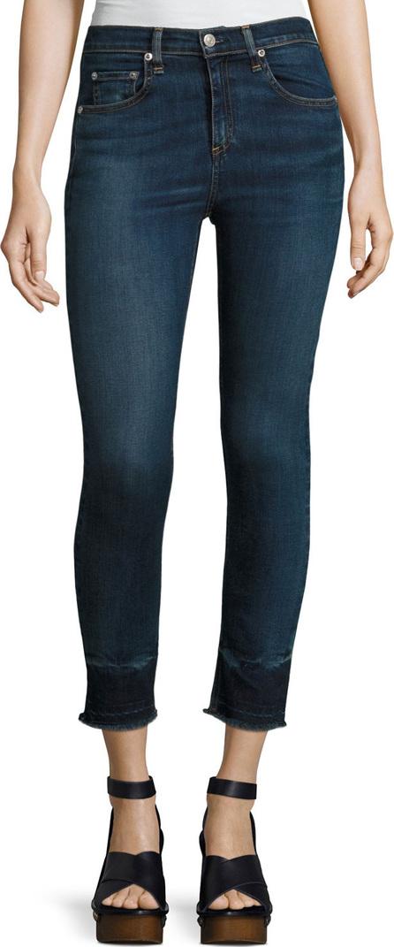 Rag & Bone 10 Inch Capri Jeans with Released Hem, Stanwix