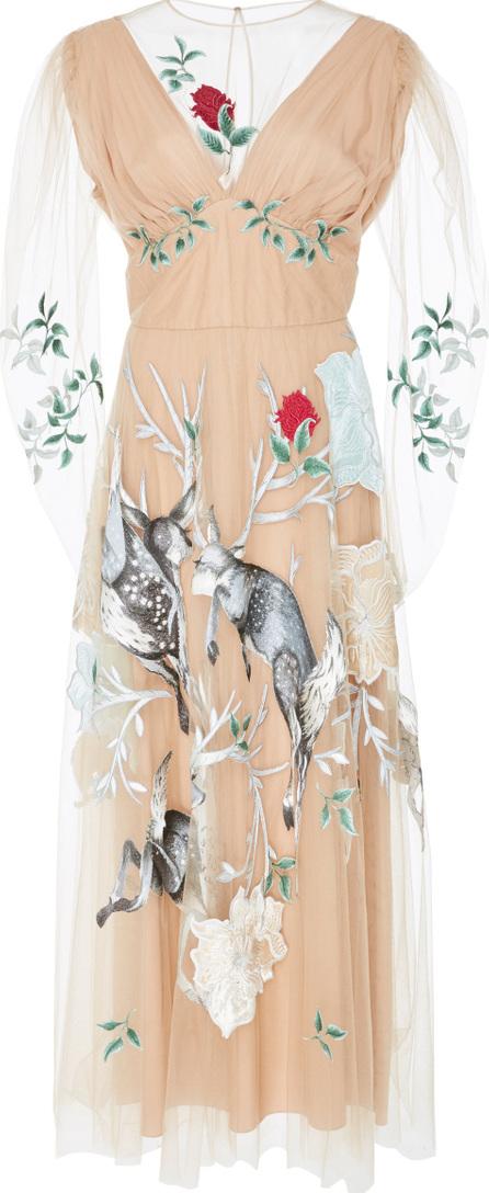 Alena Akhmadullina Embroidered Tulle Dress