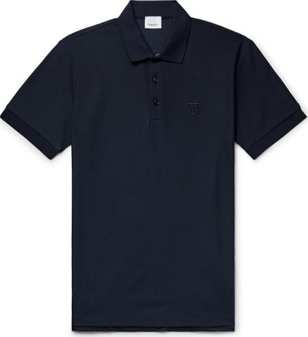 Burberry London England Logo-Embroidered Cotton-Piqué Polo Shirt