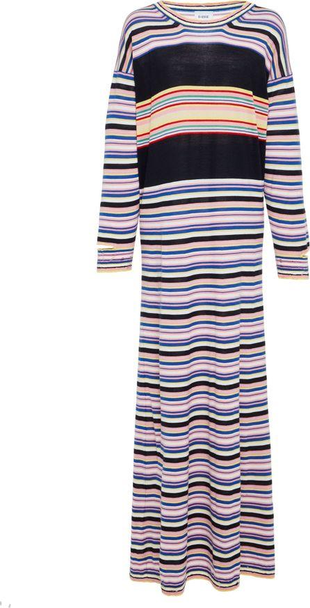 Barrie Striped Cashmere Maxi dress