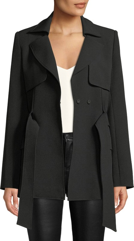 Badgley Mischka Belted Trench Jacket