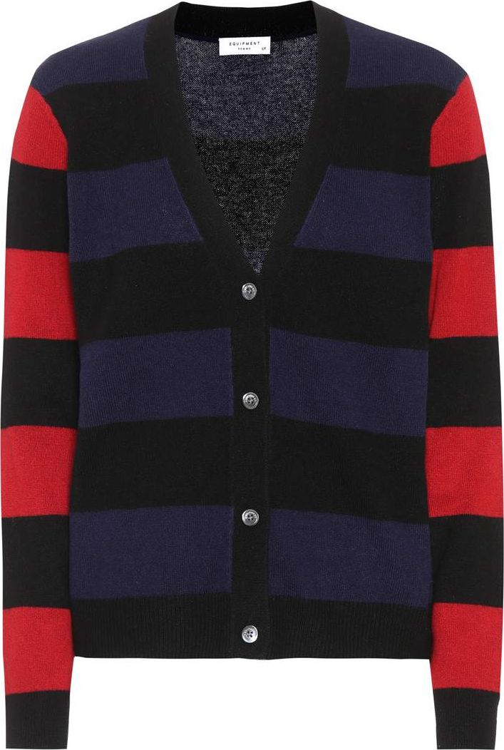 Equipment - Shelly striped cashmere cardigan