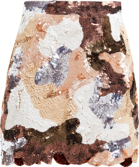 ASHISH Patchwork-effect sequinned mini skirt