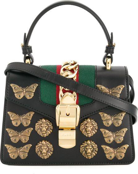 Gucci Sylvie Animal Studs top handle bag
