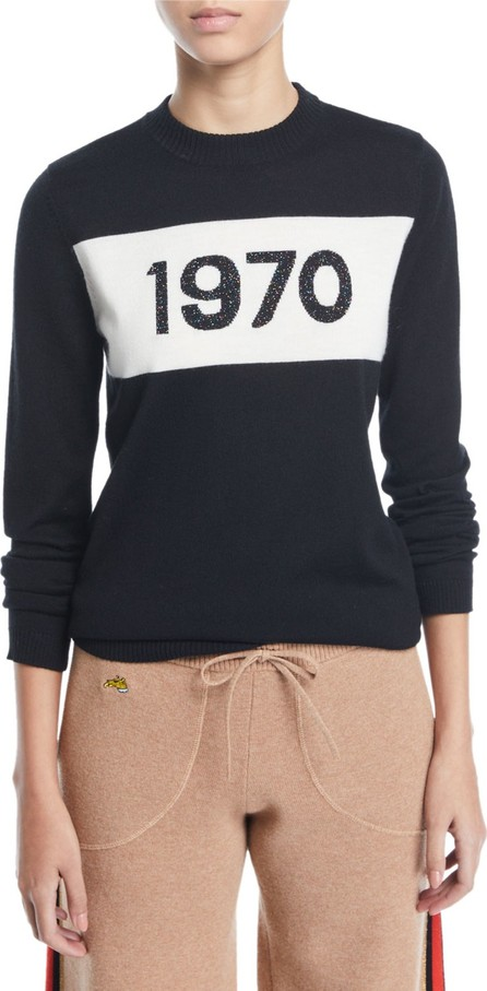 Bella Freud 1970 Sparkle Graphic Wool Sweater