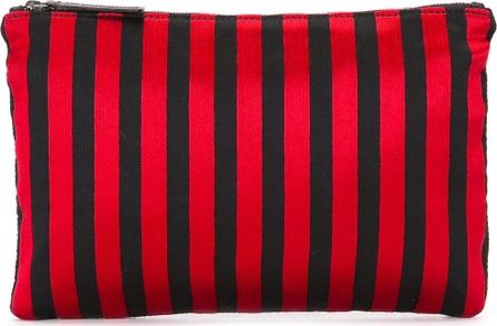 Ann Demeulemeester Blanche striped flat clutch
