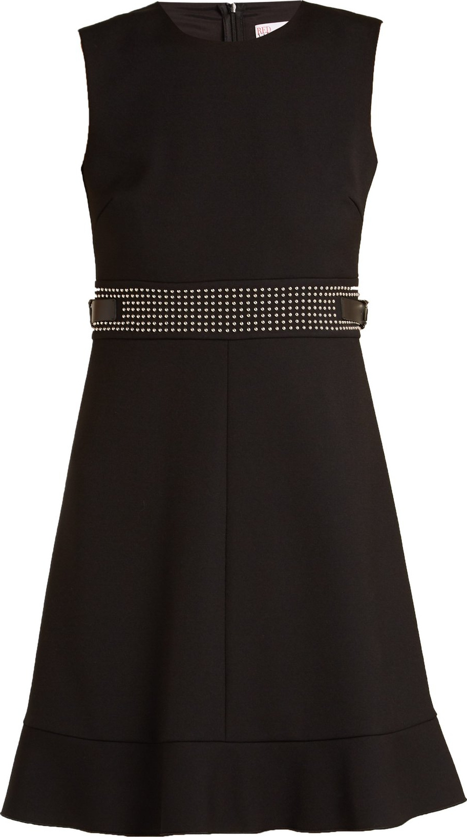 Stud-embellished sleeveless cady dress Red Valentino FS5IQT8GnE