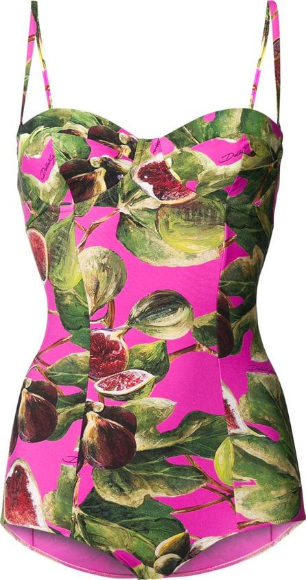 Dolce & Gabbana Printed balconette swimsuit
