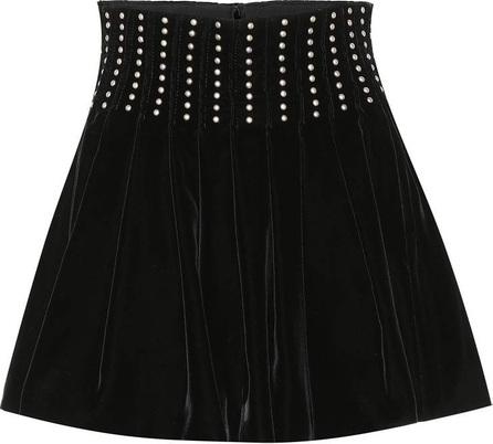Saint Laurent Studded velvet miniskirt