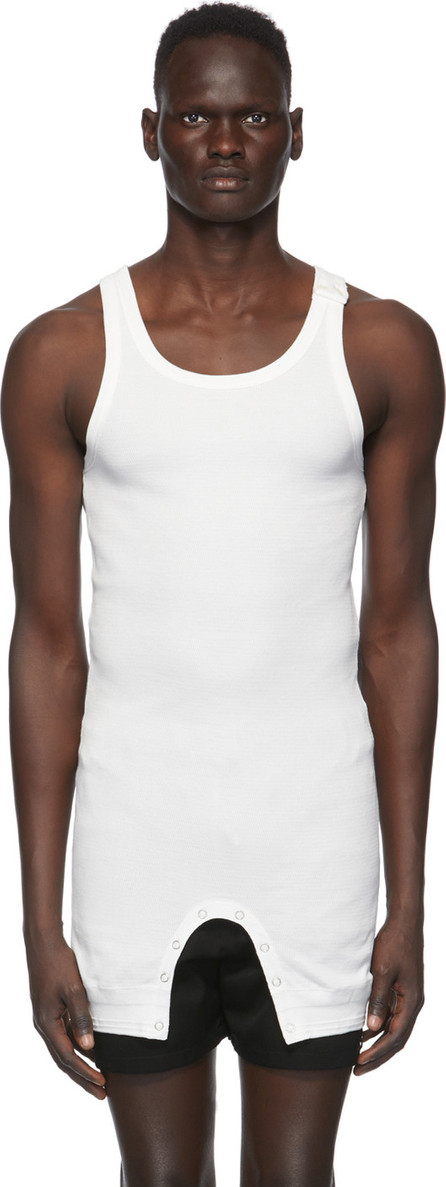 Takahiromiyashita The Soloist White Short Tank Top