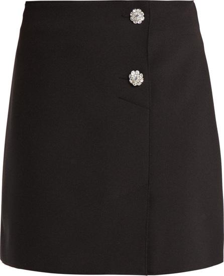 MSGM Crystal-embellished crepe mini-skirt