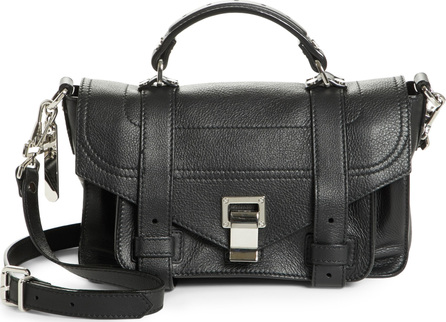Proenza Schouler Tiny PS1 Grainy Leather Satchel