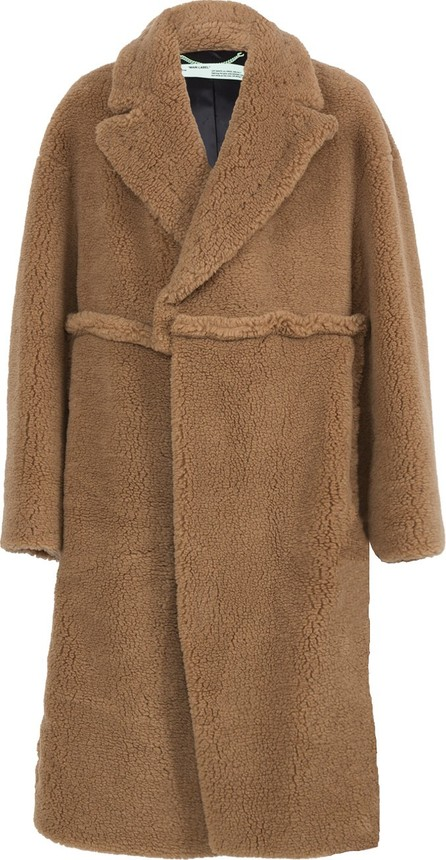 Off White oversized camel hair coat