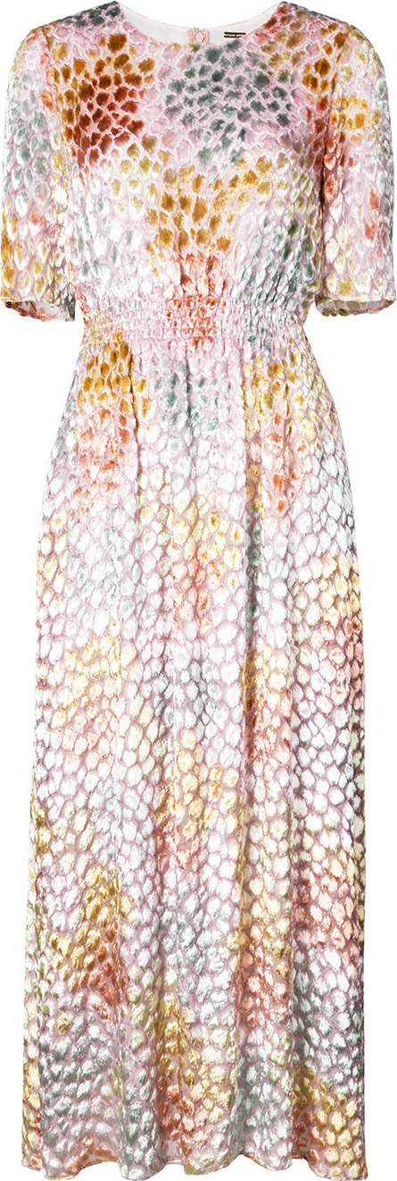 Adam Lippes Painted smocked maxi dress