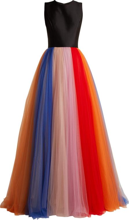 Carolina Herrera Silk-faille and tulle striped gown