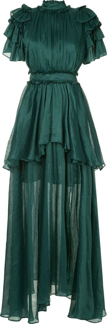 Aje Long layered gown