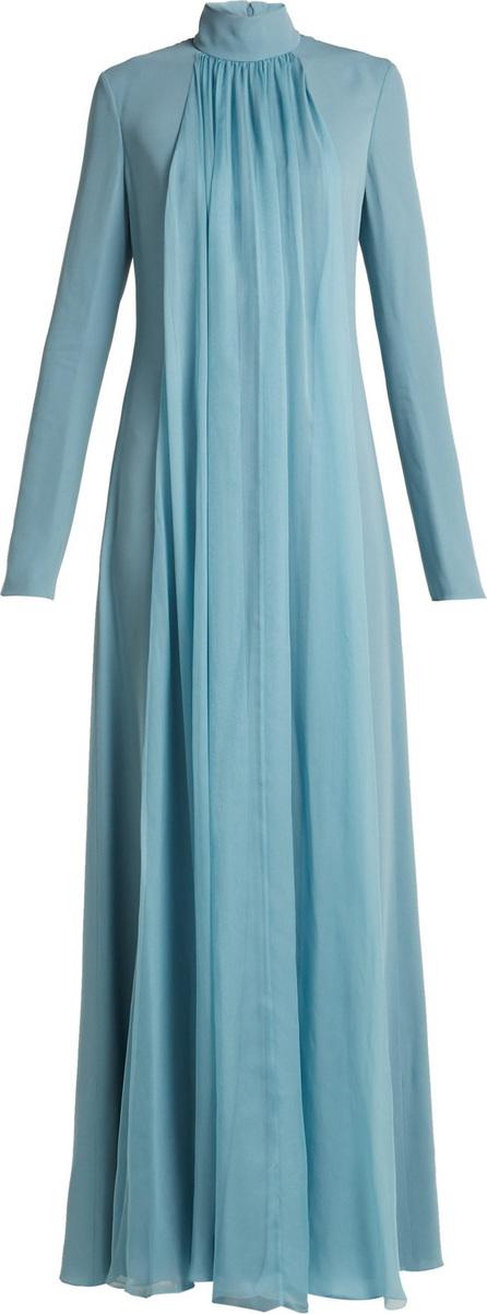 Lanvin Gathered silk-georgette gown