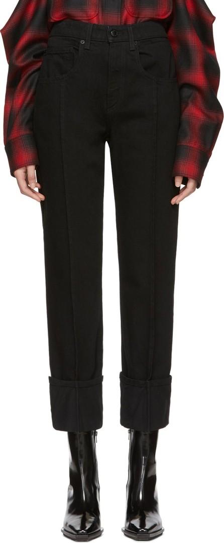 Alexander Wang Black Stovepipe Pintuck Jeans