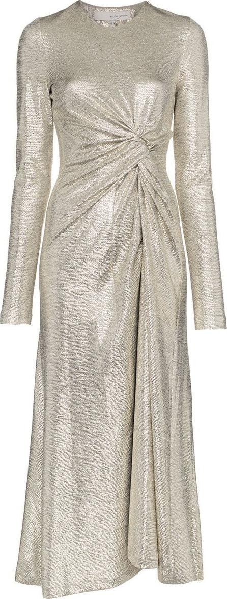 Galvan Pinwheel dress with front twist