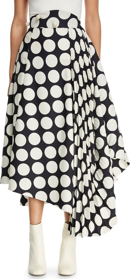 A.W.A.K.E Giant Polka-Dot Skirt with Pleated Detail