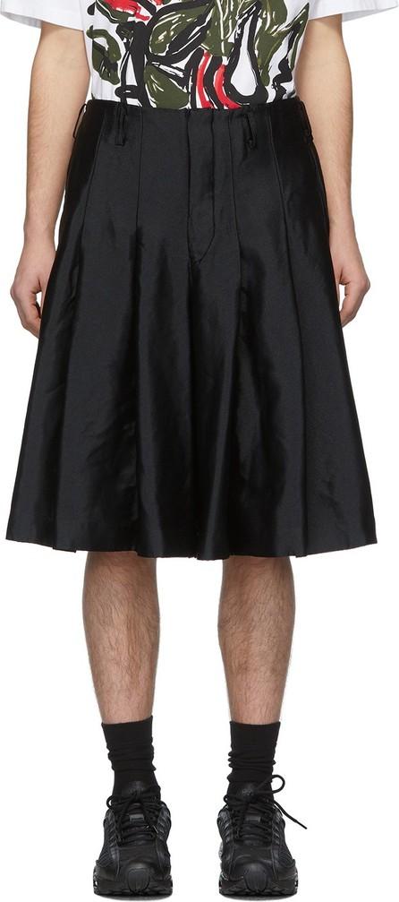 Comme Des Garçons Homme Plus Black Garment-Treated Pleated Shorts