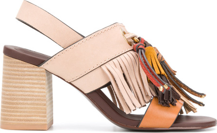 See By Chloé Fringed slingback sandals