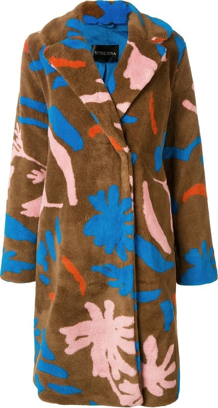 Stine Goya Floral faux-shearling coat
