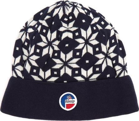 Fusalp Snowflake-jacquard beanie hat