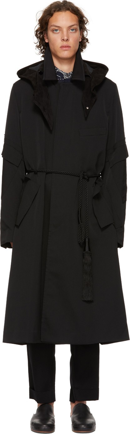 BED J.W. FORD Black Soutin Collar Coat