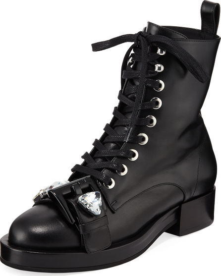 Nº21 Calf Leather Lace-Up Combat Boots