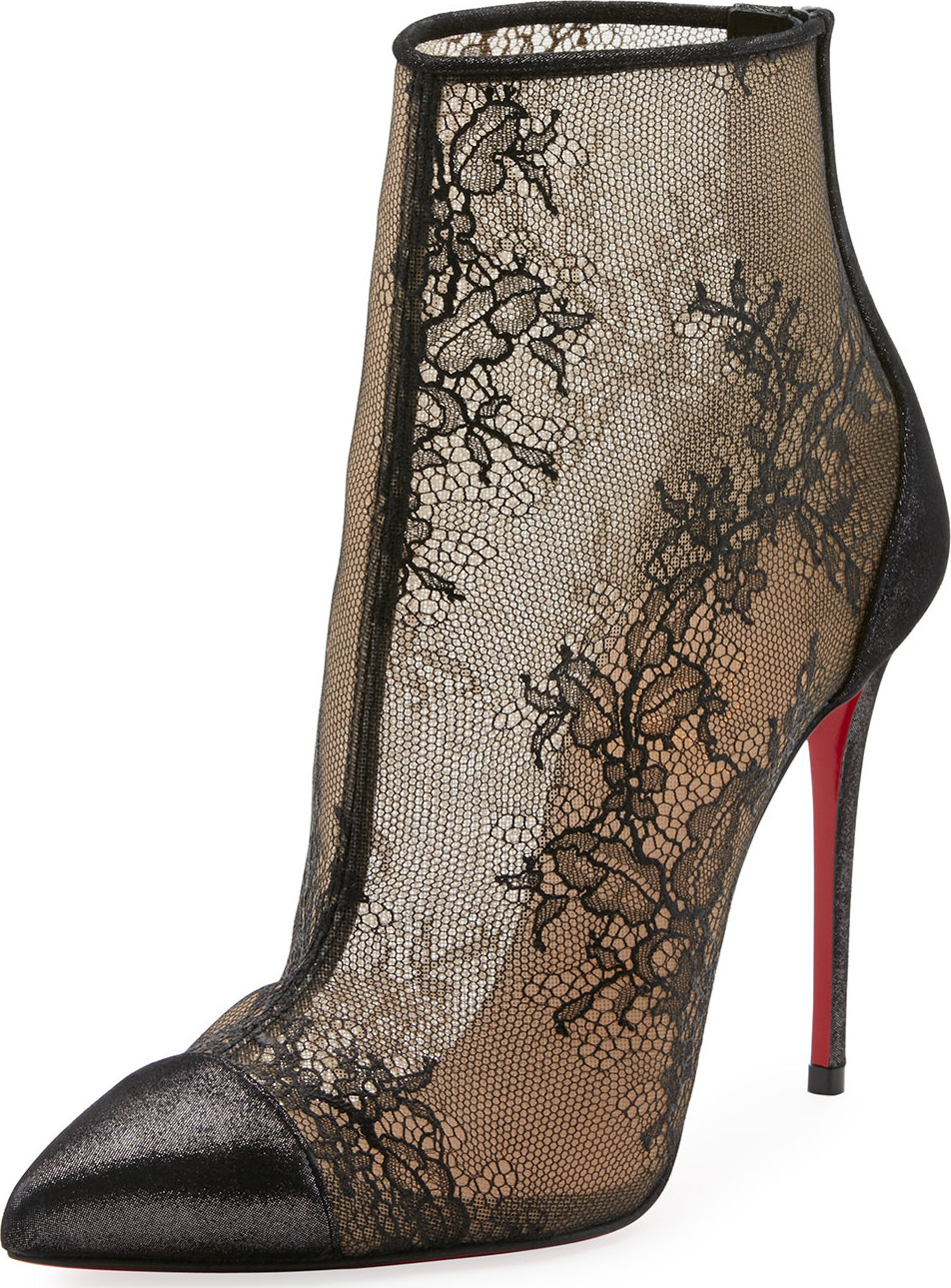 promo code 24120 10a7b Christian Louboutin Gipsybootie Lace Red Sole Ankle Boot | mkt