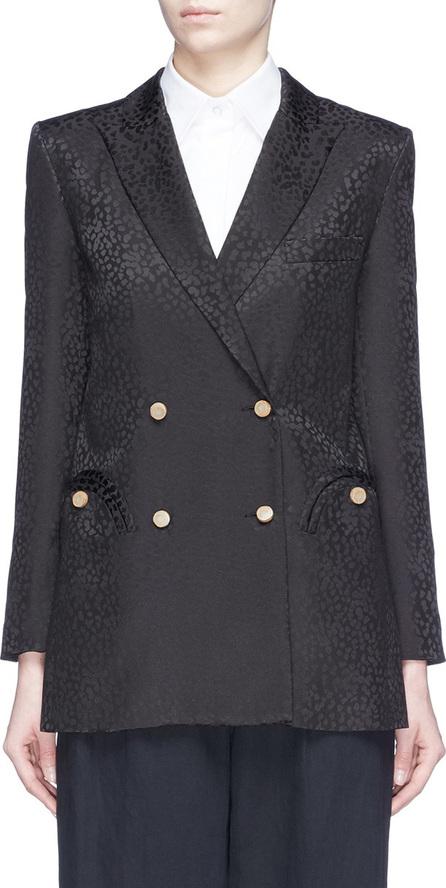 Blazé Milano Cheetah print silk jacquard double-breasted blazer