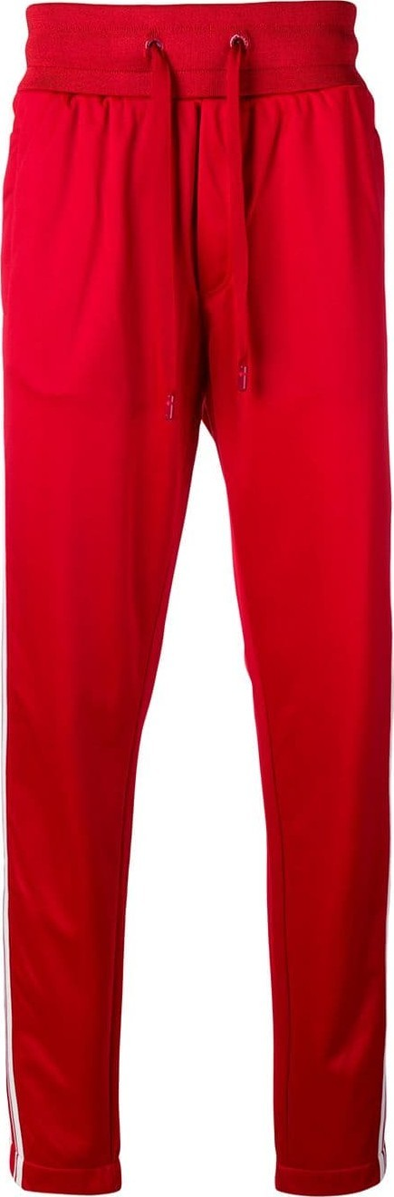 Dolce & Gabbana Logo striped track pants