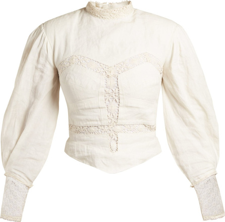 Isabel Marant Lyneth lace high-neck cotton top