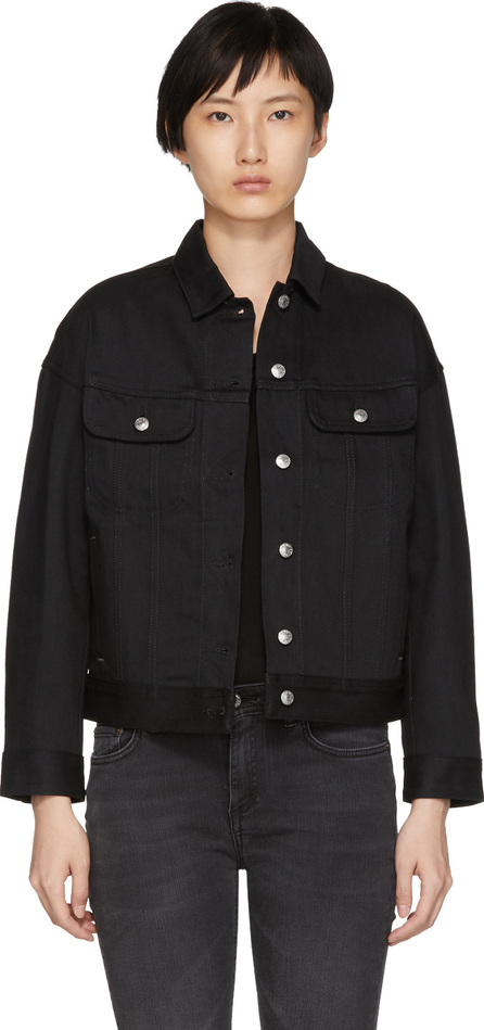 Acne Studios Blå Konst Black Denim Lamp Jacket