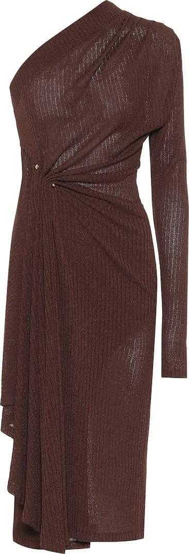 DODO BAR OR Ribbed-knit one-shoulder midi dress