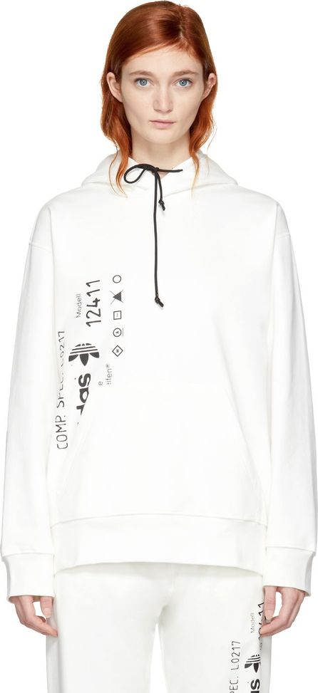 Adidas Originals by Alexander Wang White Graphic Hoodie
