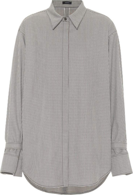 Joseph Checked wool-blend shirt