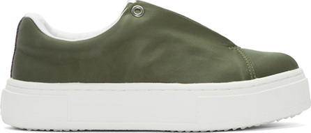 Eytys SSENSE Exclusive Green Nylon Doja Sneakers