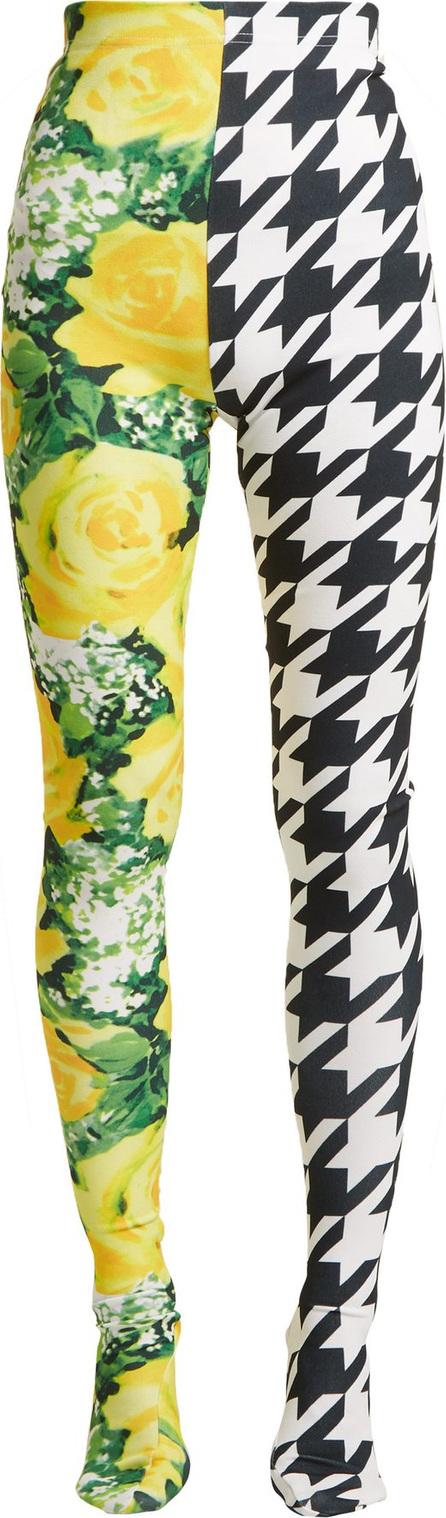 Richard Quinn Flora and houndstooth-print high-rise leggings