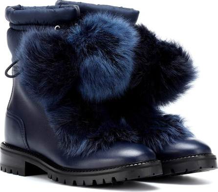 Jimmy Choo Glacie leather and fur boots