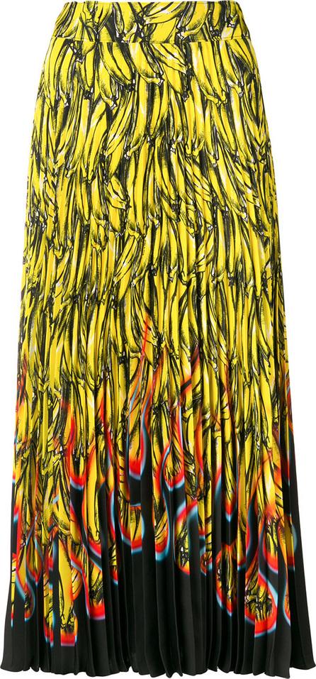 Prada Banana print pleated skirt