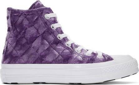 Converse Purple Golf le Fleur* Velvet Chuck 70 High Sneakers