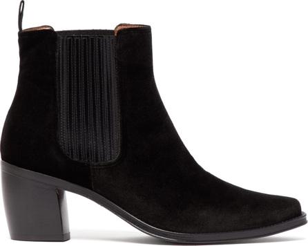 Alexachung Block-heel velvet ankle boots