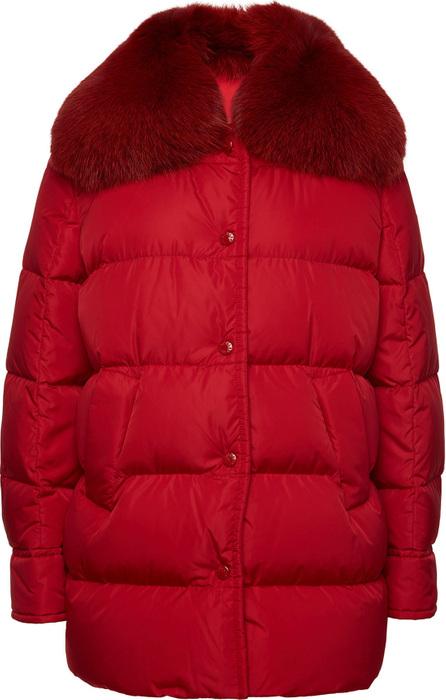 Moncler Mesange Down Parka with Fur-Trimmed Hood