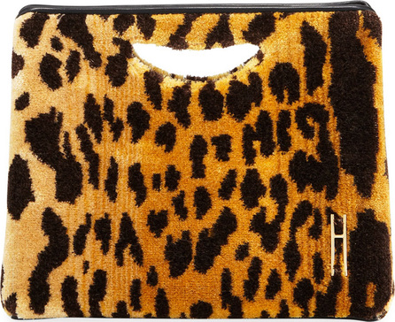 Hayward 1712 Leopard Brocade Basket Clutch Bag