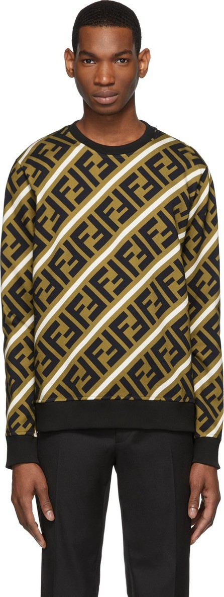 Fendi Brown & Black 'Forever Fendi' Banner Sweatshirt